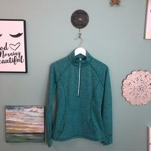 Lucy Green and Silver Workout Pullover M G5